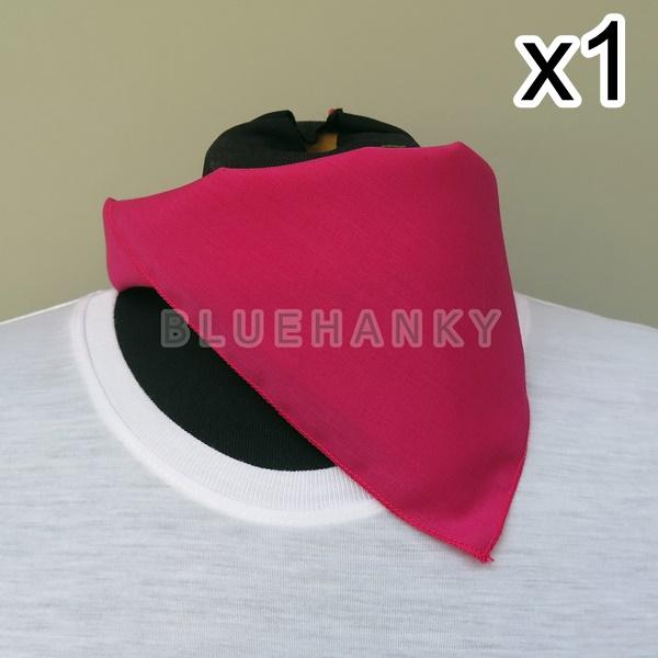 สีบานเย็น สี่เหลี่ยม53ซม ผ้าพันคอกีฬาสี ผ้าเช็ดหน้าผืนใหญ่