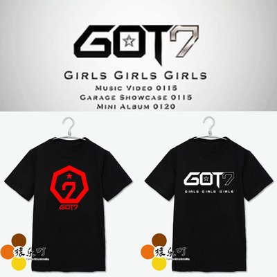 T-shirte GOT7 Girls Girls Girls-A- -ระบุไซต์ /สี-
