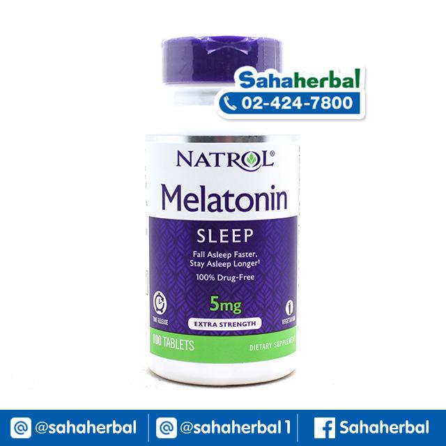 Natrol Melatonin 5 mg เมลาโทนิน ช่วยเสริมการนอนหลับ SALE 60-80% ฟรีของแถมทุกรายการ