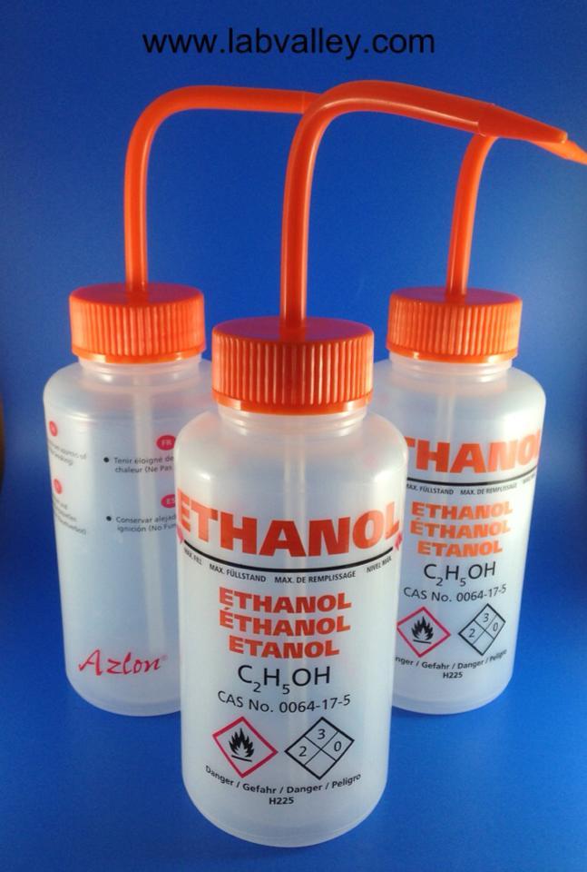 """กระบอกฉีดเอทานอล Washing Bottle for Ethanol 500 ml. """"Azlon"""""""