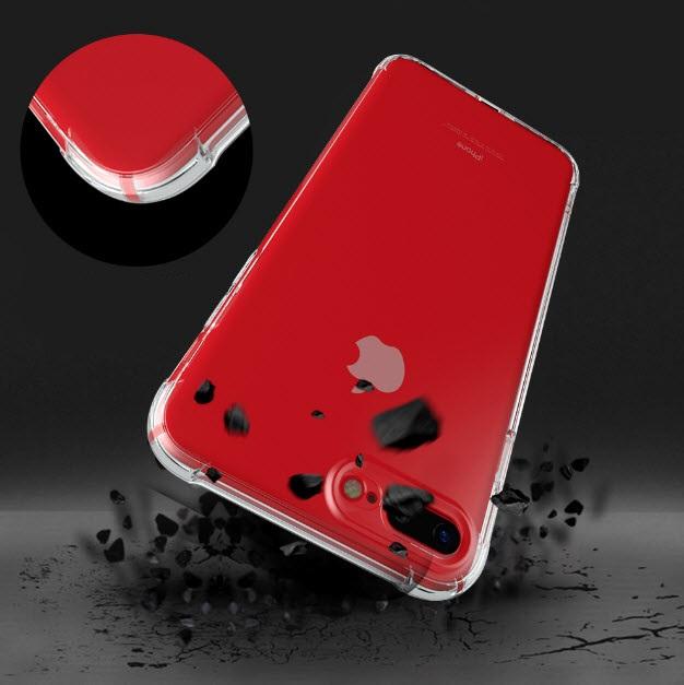เคสไอโฟนรุ่นป้องป้องกล้อง+กันกระแทกตัวเครื่อง (Premium Case) เคสยางนิ่มแบบหนาสีขาวใส Iphone 6Plus/6sPlus