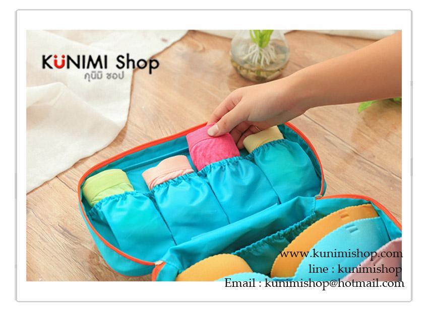 กระเป๋าจัดเก็บสิ่งของ กระเป๋าใส่ชุดชั้นใน กางเกงใน ถุงเท้า ผ้าอ้อมเด็ก ของใช้เด็ก หรือของใช้จุกจิกทั่วไป เช่น เครื่องสำอางค์ อุปปกรณ์อาบน้ำ ขนาดกระทัดรัด พกพาเดินทางท่องเที่ยว แบ่งช่องเป็นระเบียบ รุ่นนี้จะมีช่องเก็บของมากขึ้น หยิบใช้งานสะดวก มีซิบเปิด - ปิด พร้อมหูหิ้ว มีให้เลือกหลายสี วัสดุ : เนื้อผ้ากันละอองน้ำ ขนาด กว้าง 28 x สูง 14.5 x หนา 12.5 ซม.
