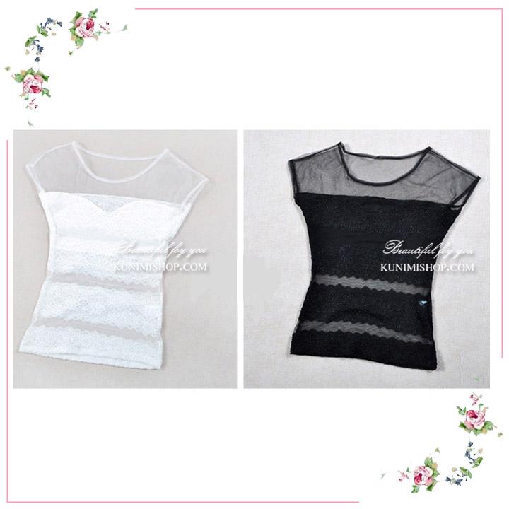 เสื้อซับใน ผ้าซีทรู และ ผ้าลูกไม้ครึ่งตัว ทั้งด้านหน้าและด้านหลัง มีผ้าซับในอีกชั้นครึ่งตัว แบ่งเป็น 3 ช่วง ผ้ายืดใส่สบาย สวย เซ็กซี่มากคะ จะใส่เดี่ยวๆ หรือ จะใส่ชุดกับเสื้อคลุมอีกตัวก็ดูดีคะ ขนาด หน้าอก : 78 - 96 cm. ความยาวชุด : เสื้อซับใน ผ้าซีทรู และ ผ้าลูกไม้ครึ่งตัว ทั้งด้านหน้าและด้านหลัง มีผ้าซับในอีกชั้นครึ่งตัว แบ่งเป็น 3 ช่วง ผ้ายืดใส่สบาย สวย เซ็กซี่มากคะ จะใส่เดี่ยวๆ หรือ จะใส่ชุดกับเสื้อคลุมอีกตัวก็ดูดีคะ ขนาด หน้าอก : 78 - 96 cm. ความยาวชุด : FREE SIZE มี 2 สี : ขาว ดำ FREE SIZE มี 2 สี : ขาว ดำ