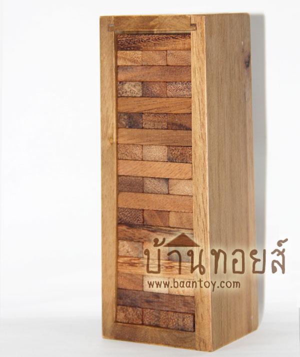 จังก้า (Jenga) เกมตึกถล่ม ทำจากไม้ ชิ้นบล็อคไม้นำมาเล่นโดมิโน่ได้