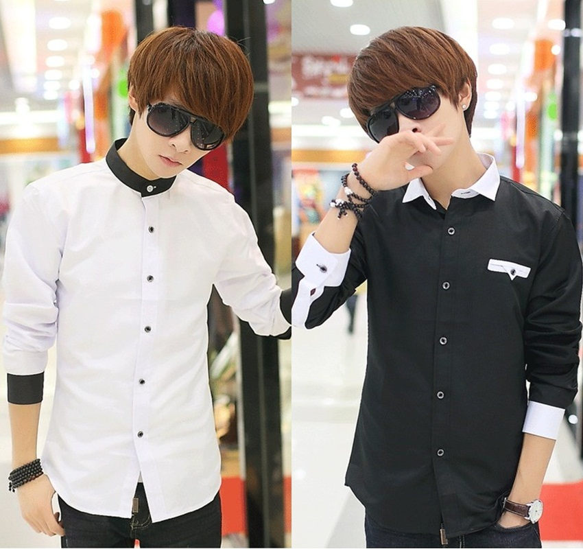 เสื้อเชิ๊ต แฟชั่นเกาหลี เสื้อผ้าทอม#01[Pre-Order]