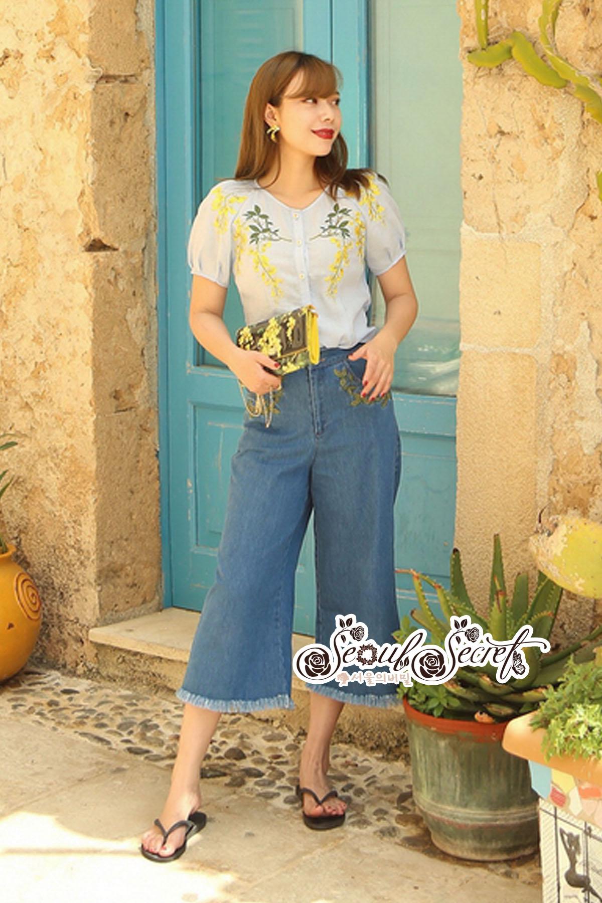 ชุดเซทแฟชั่น งานเซ็ทสวยเก๋ลุคสาววินเทจ ดีเทลเสื้อเนื้อผ้าคอตตอล