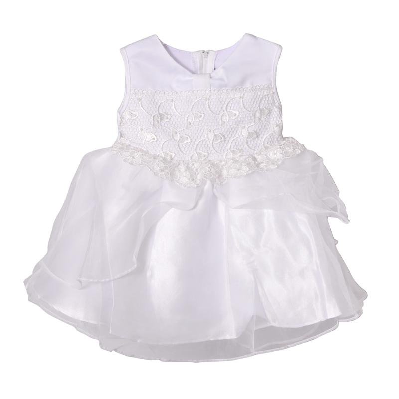 ชุดเดรสเด็กหญิงใส่ไปงาน สีขาว ขนาด 6-24 เดือน