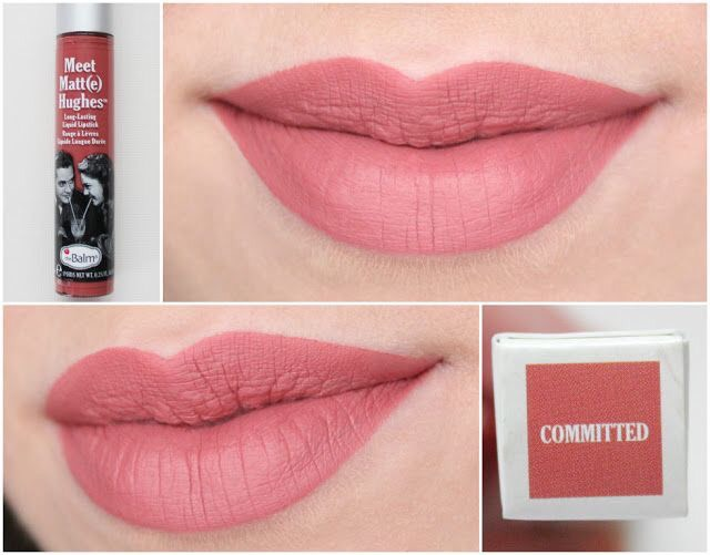 **พร้อมส่งค่ะ**The Balm Meet Matte Hughes Long Lasting Liquid Lipstick สี Committed