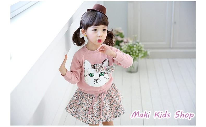 เสื้อแขนยาวกันหนาวเด็กหน้าแมว PinkIdeal