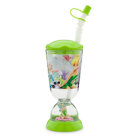z Tinker Bell Snowglobe Tumbler with Straw