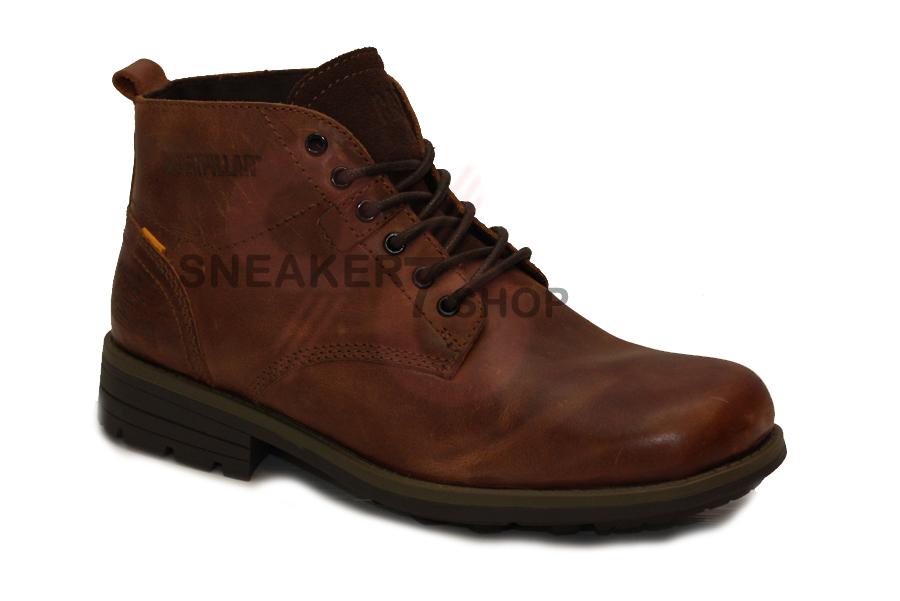 รองเท้า Caterpillar Newcastle Mens Lace Up Leather Ankle Boots Size 40-44