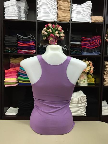 เสื้อกล้ามหลังสปอร์ต สีม่วงเผือก