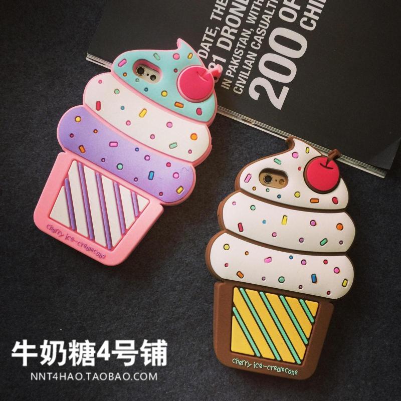เคสไอโฟน 6 เคสพลาสติคนุ่มดีไซน์ไอศครีมโคนนำเข้าจากญี่ปุ่น iPhone6 Case