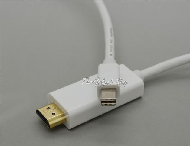 (พร้อมส่ง) Mini Display Port Display Port DP to HDMI (HD) ยาว 1.8 เมตร ใช้กับ Microsoft SurfacePRO MacBook, MacBook Pro, MacBook Air ได้