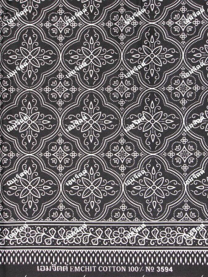 ผ้าถุงขาวดำ ec3594bk