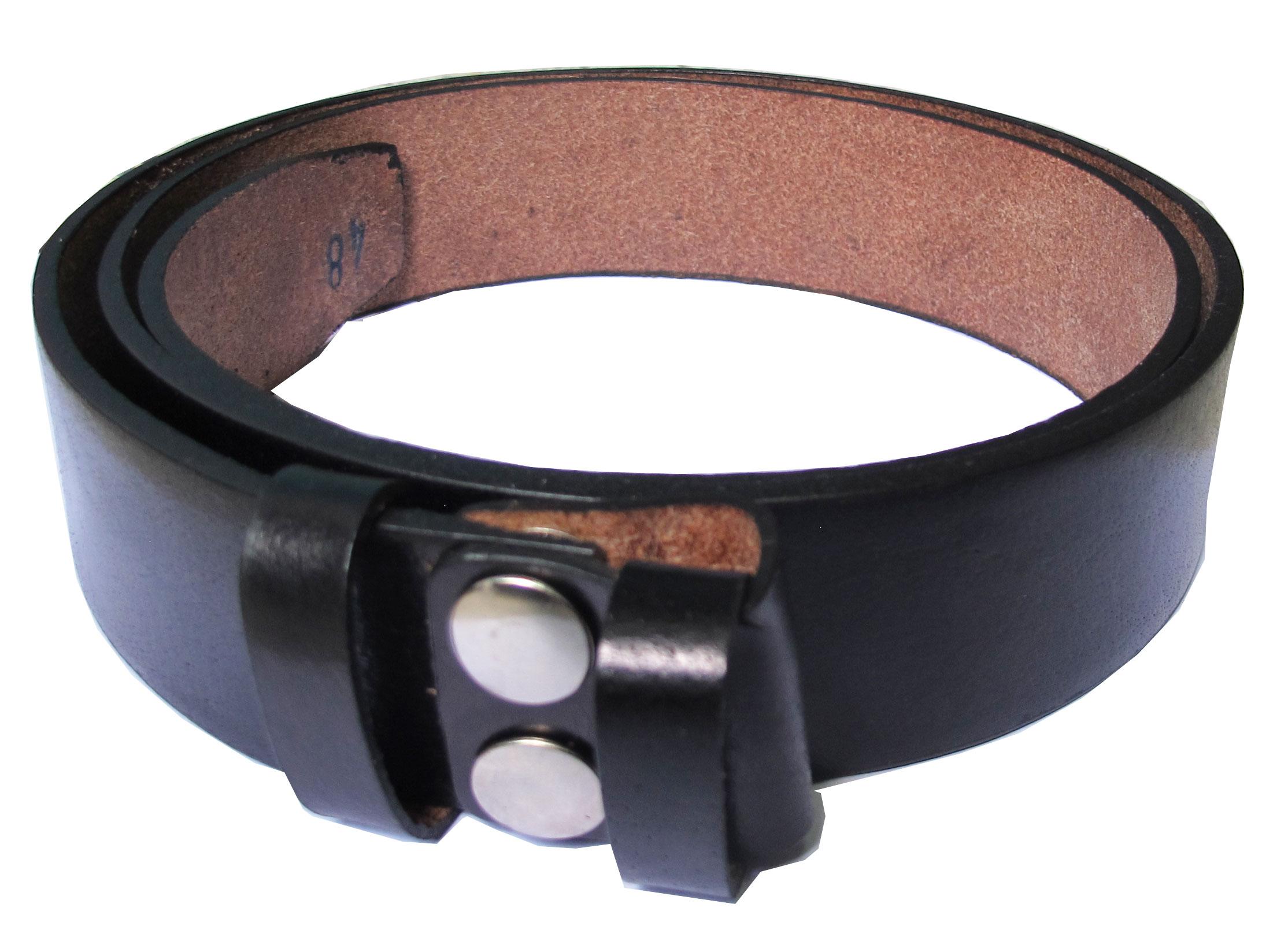 เข็มขัดหนังวัวแท้ สายเข็มขัดสีดำ