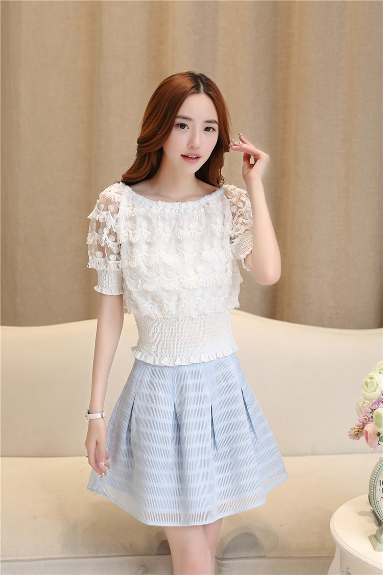 แฟชั่นเกาหลี set เสื้อและกระโปรงสวยมากครับ