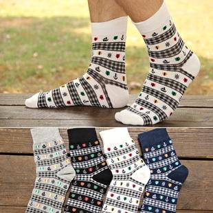 S099**พร้อมส่ง** (ปลีก+ส่ง) ถุงเท้าแฟชั่นเกาหลีผู้ชาย ข้อยาว เนื้อดี งานนำเข้า(Made in china)