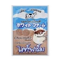 White farm นมอัดเม็ด รสช๊อคโกแลต 6.4 กรัม 12 ซองต่อกล่อง ไวท์ฟาร์ม นมอัดเม็ดทานง่าย มีประเยชน์ เหมาะสำหรับลูกน้อย เเละบุคคลทั่วไป