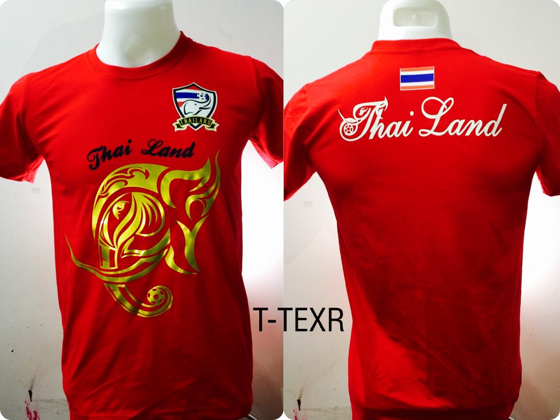 เสื้อยืด ทีมชาติไทย ลาย ไตรรงค์ช้างศึก สีแดง T-TEXR