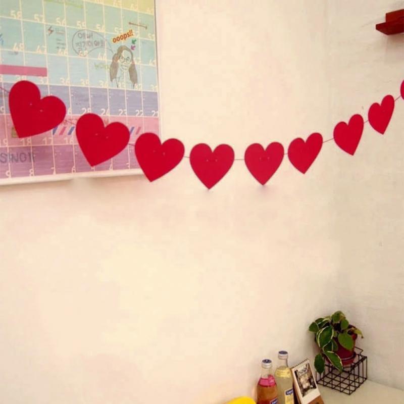 ชุดธงปาร์ตี้-Love ทรงหัวใจ