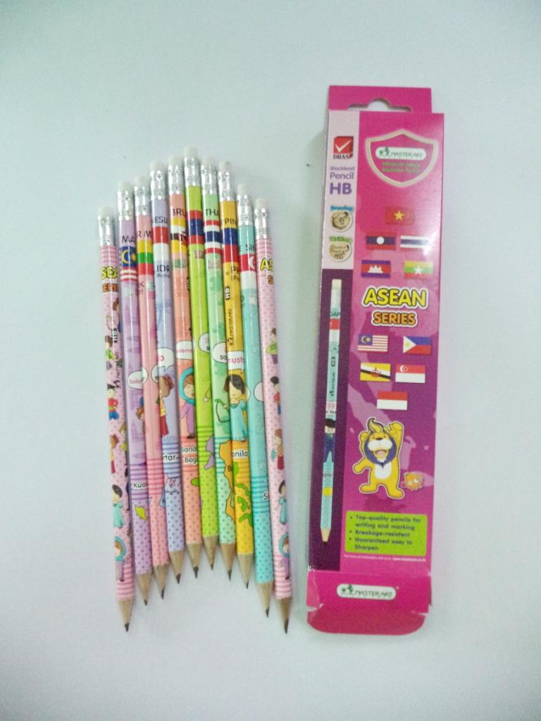 ดินสอไม้ asean แพ็ค 12 แท่ง รหัส 2067