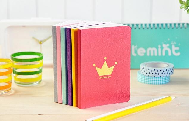 สมุดคำศัพท์- Crown Colorful word