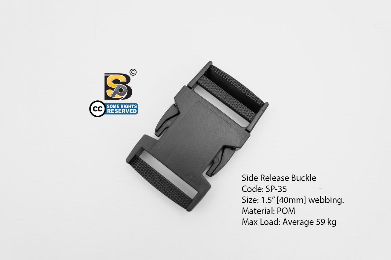 """ก้ามปู 1.5"""" (แข็ง) / Side Release Buckle 1.5"""""""