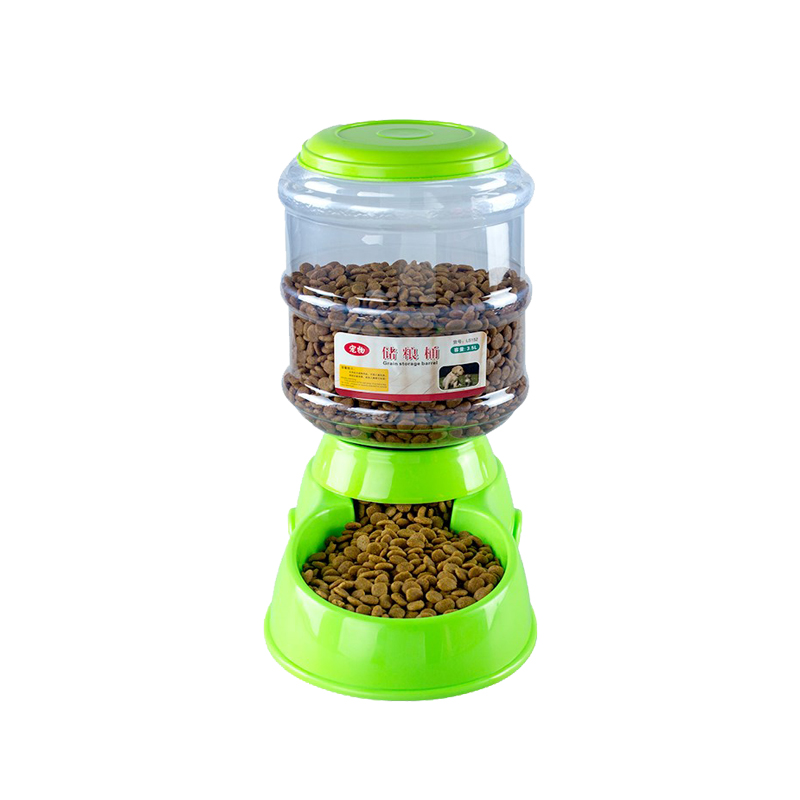 เครื่องให้อาหารสุนัข เครื่องให้อาหารอัตโนมัติ เครื่องให้อาหารหมา เครื่องให้อาหารแมว รุ่น LS152 (สีเขียว)