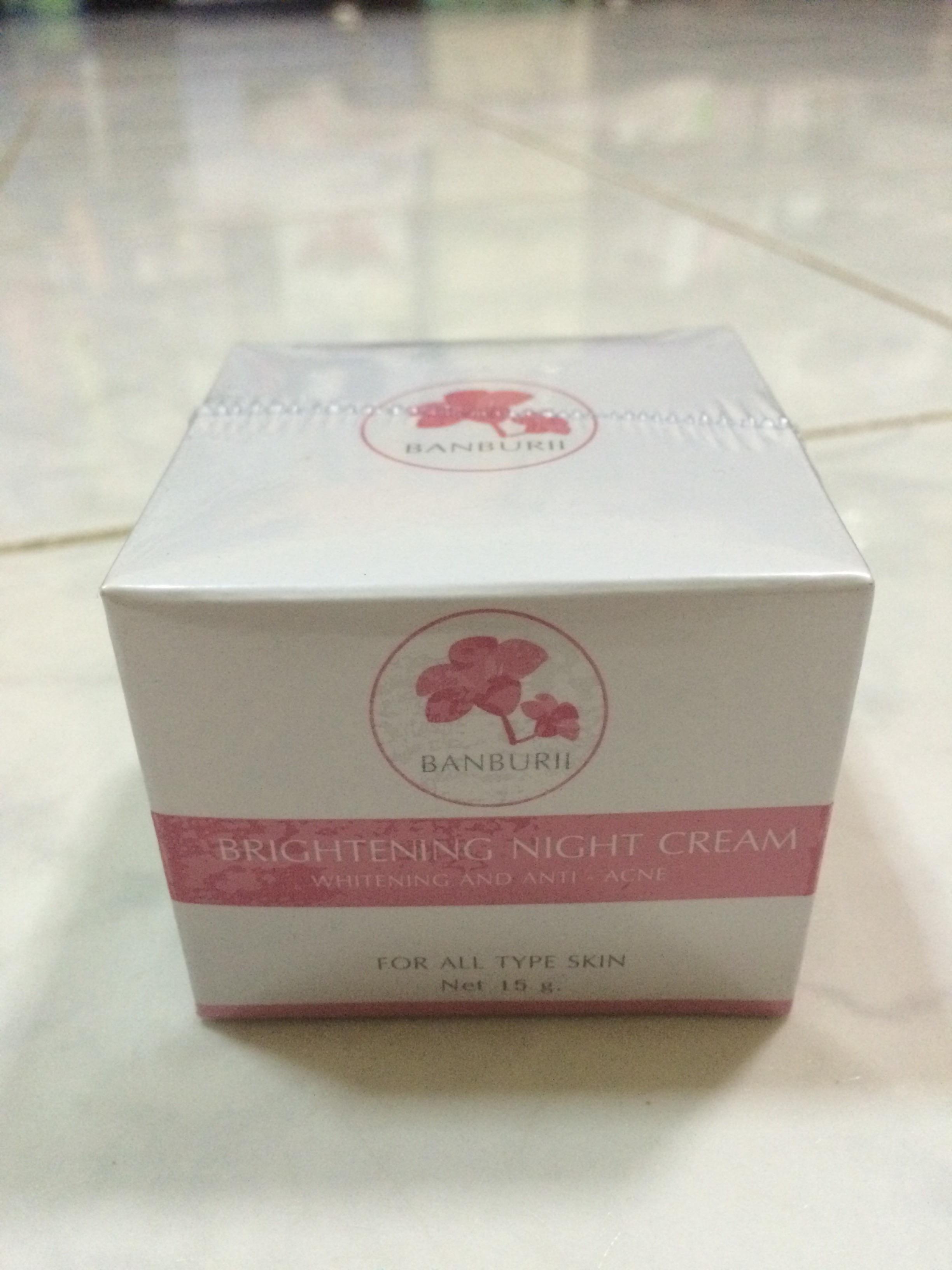 บานบุรี whitening cream