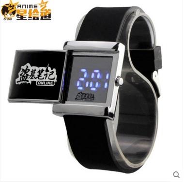 นาฬิกาข้อมือ LED บันทึกจอมโจรแห่งสุสาน (สีดำ)