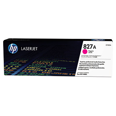 HP 827A ตลับหมึกโทนเนอร์ สีม่วงแดง Magenta Original Toner Cartridge (CF303A)