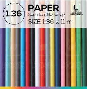 PAPER BACKDROP 136 ฉากกระดาษขนาด 1.36 x 11 เมตร (ใช้กับโครงฉาก M)