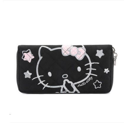 กระเป๋าสตางค์ HELLO KITTY สีดำ (ของแท้ลิขสิทธิ์)