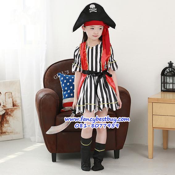 ชุดแฟนซีเด็กโจรสลัด Pirate Girl มี ขนาด M, L, XL (รุ่นนี้ค่อนข้างเล็ก กรุณาเลือกใหญ่ขึ้น 1 ขนาด)
