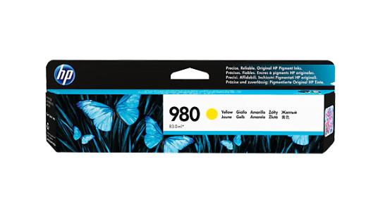 HP 980 ตลับหมึกอิงค์เจ็ท สีเหลือง ของแท้ Yellow Original Ink Cartridge (D8J09A)
