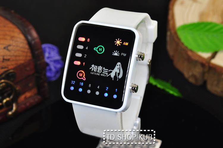 นาฬิกา LED Hatsune Miku(สีขาว)