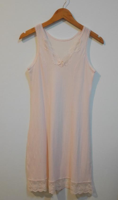 jp3732 ชุดซับใน/ชุดนอน ผ้าคอนตอนผสม ยืดหยุ่น สีเนื้ออ่อนรอบอก 30-33 นิ้ว