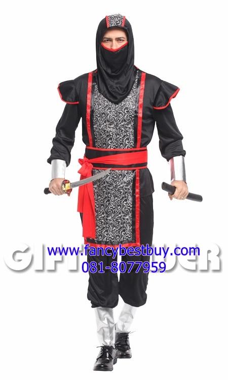 ชุดนินจาสีดำ Mystery Ninja Costume ขนาดฟรีไซด์