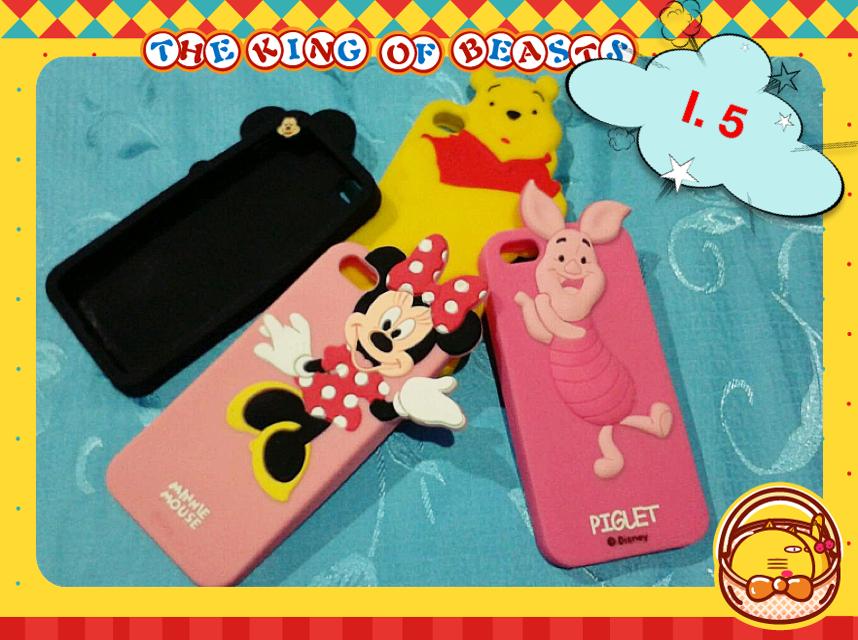 เคสลายDisney Silicone Mickey / Minnie / Piglet / Pooh Iphone5