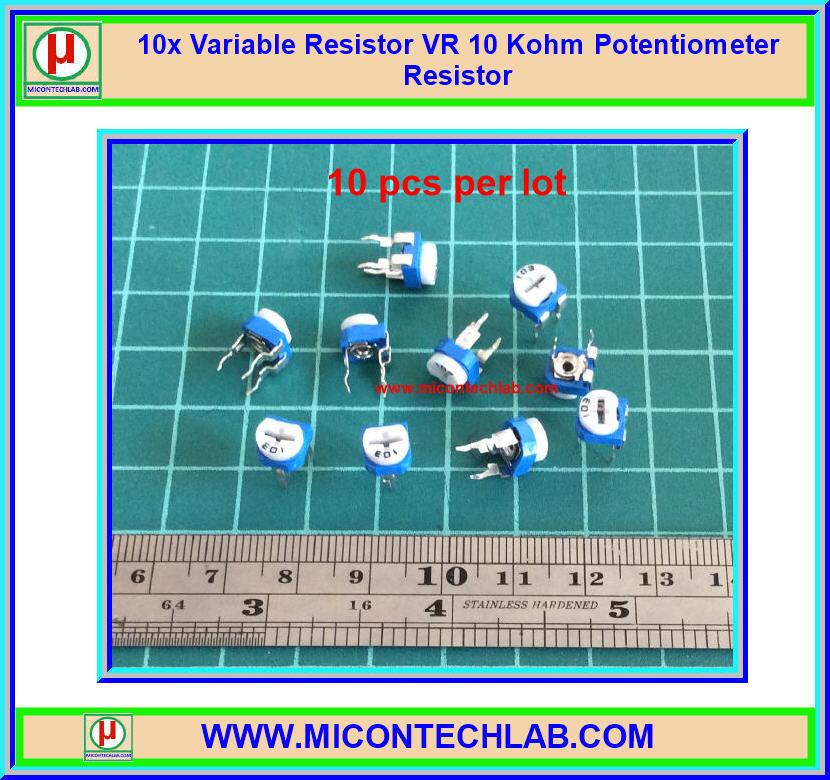 10x Variable Resistor VR 10 Kohm Potentiometer Resistor