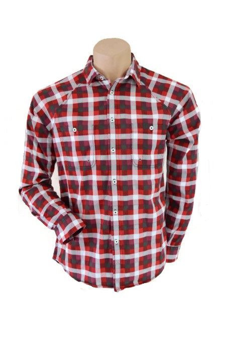 Topman Red Long Sleeve Indie Summer Shirt Size M
