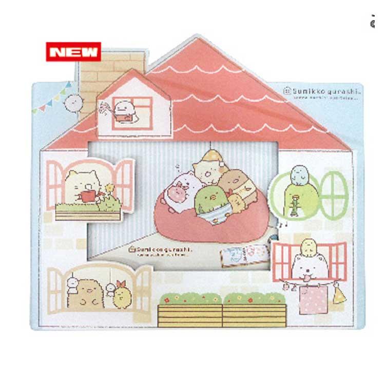 กรอบรูปติดตู้เย็นได้ Sumikko Gurashi สีแดง