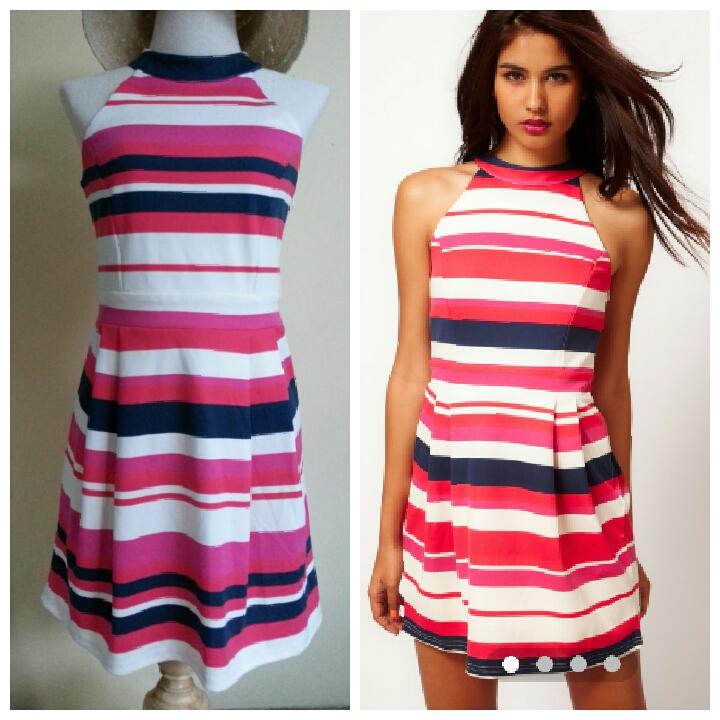Lipsy Striped Dress Size uk10