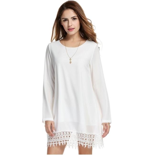 ชุดเดรส Chiffon Vestidos (White)
