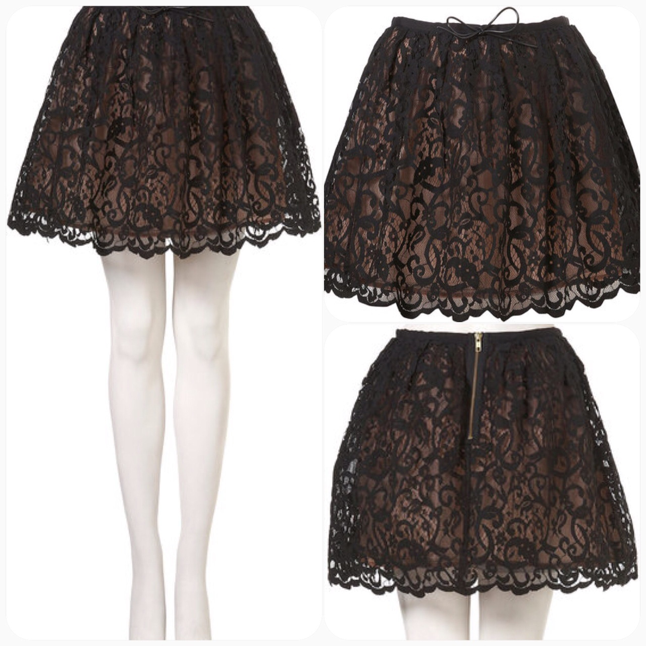 Topshop Lace skirt Size UK14