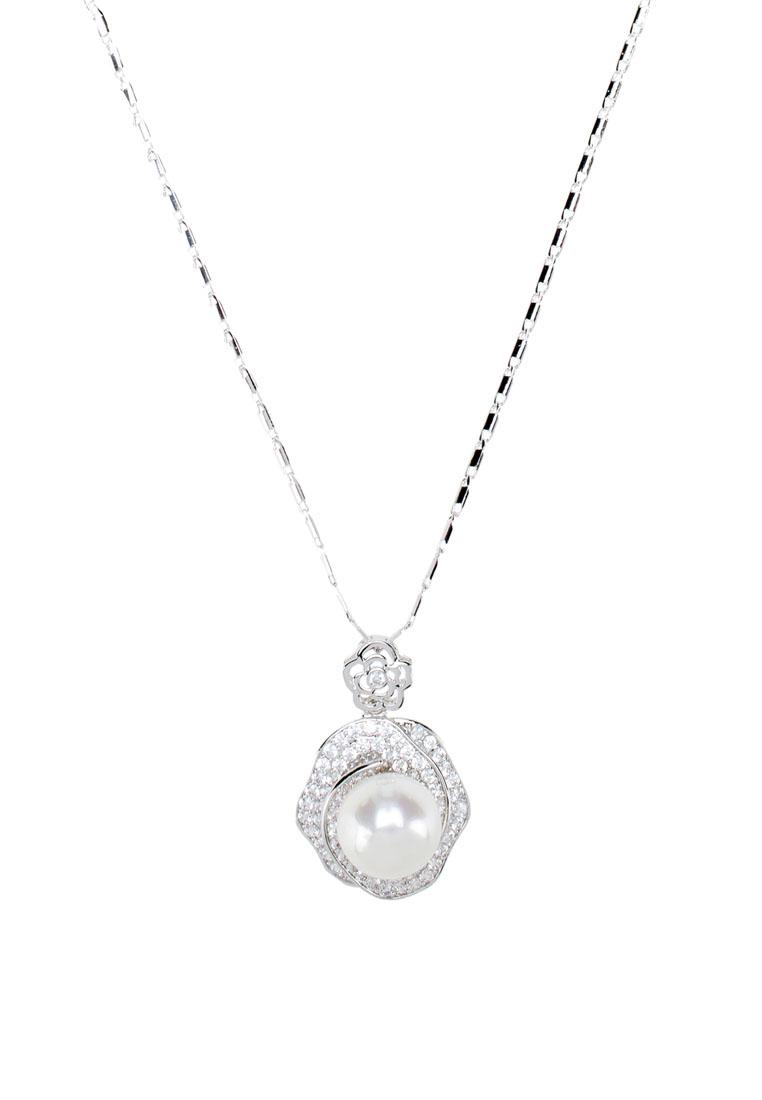 สร้อยคอ Pearl Crystal Pendant