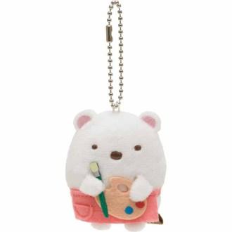 พวงกุญแจตุ๊กตา Sumikko Gurashi หมีขาว-วาดรูป